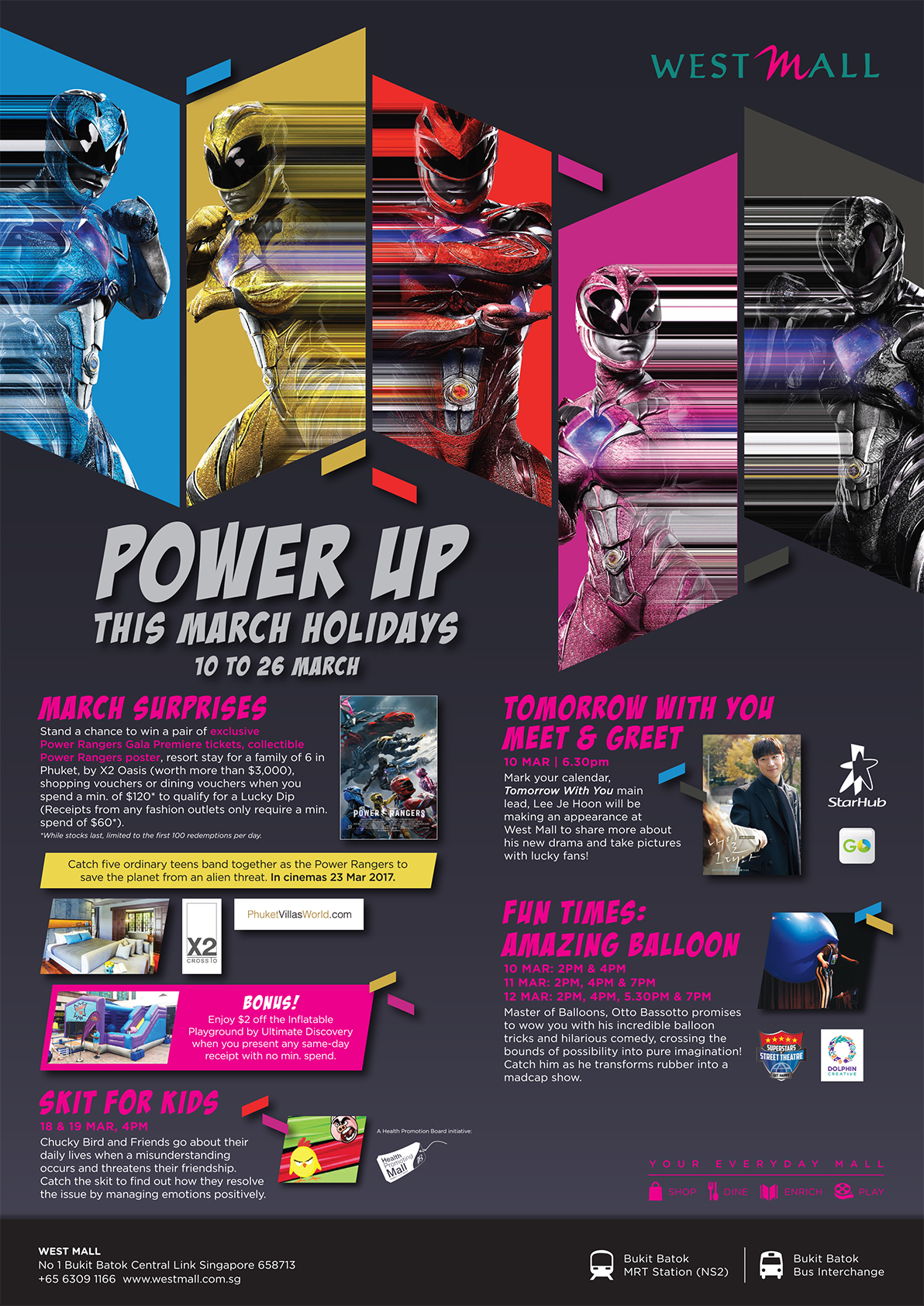 Power Up March Holidays