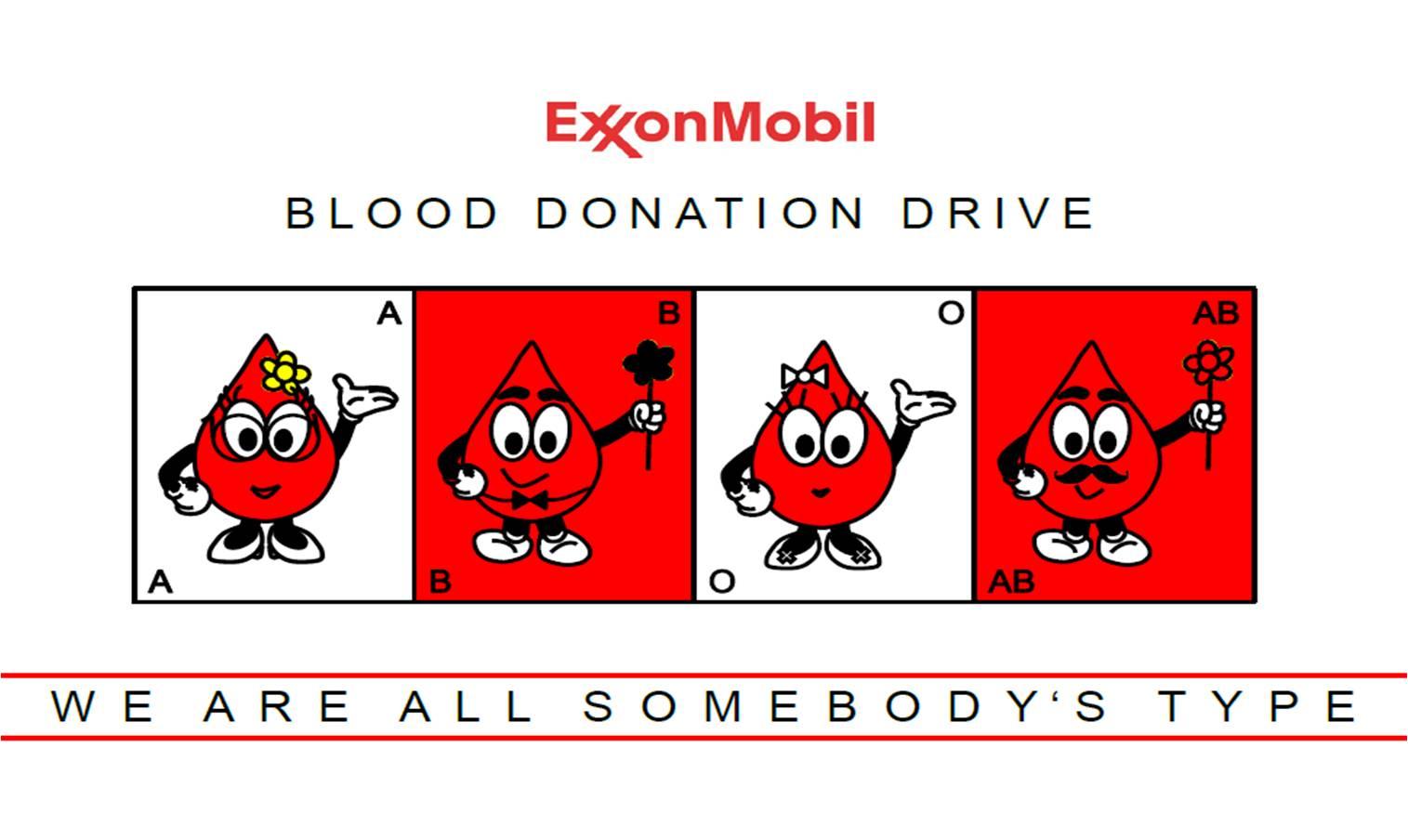 exxon mobil blood donation drive