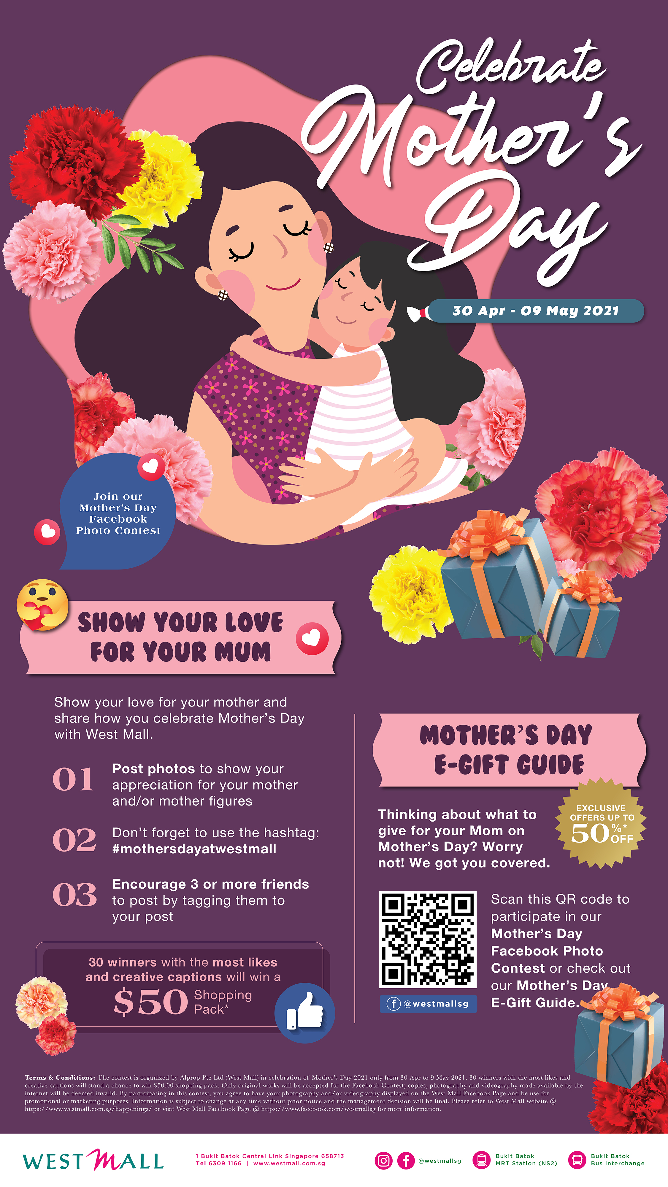 Celebrate Mother's Day (30 Apr to 9 May 2021)
