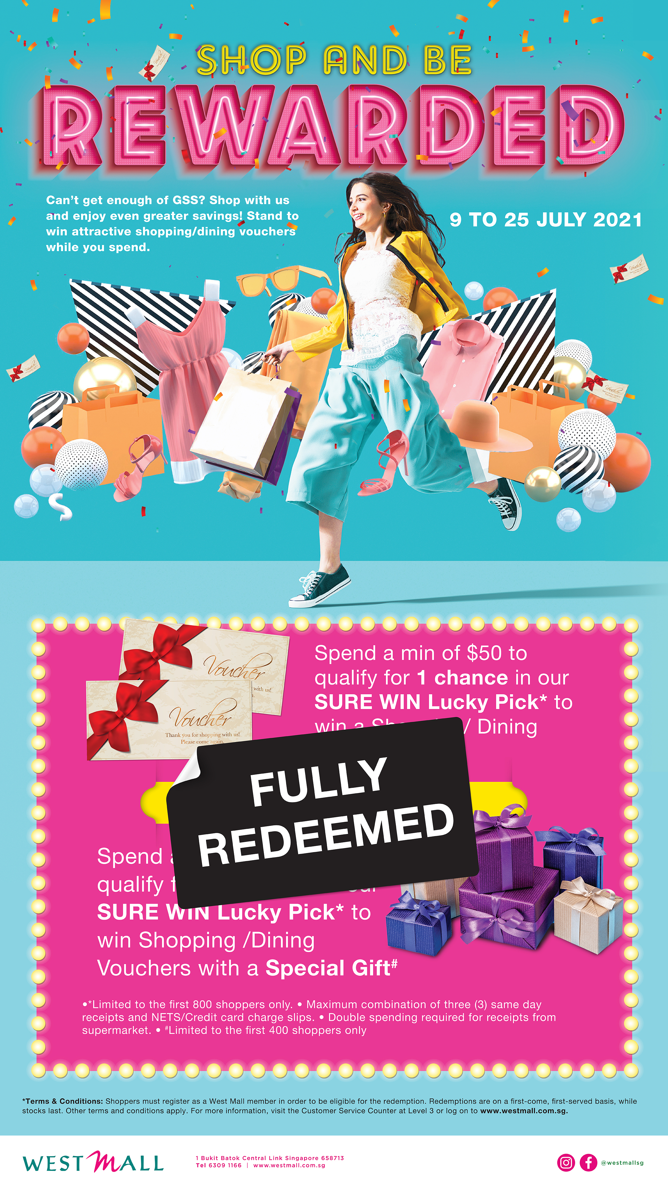 Shop and be Rewarded at West Mall!